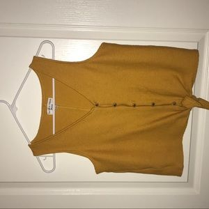Madewell Tops - Texture & Thread Button-Front Tie Tank Top